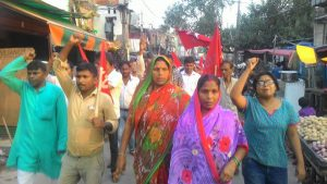 AICCTU March in Delhi's Wazirpur Industrial Area