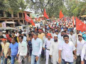 March against Jharkhand Govt. Policies in Bagodar