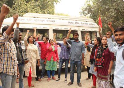 Students-Youth Adhikar Yatra -Allahabad