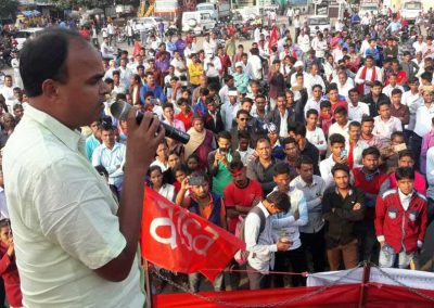 CPIML Central Committee member comrade Vinod Singh addressed the Students-Youth Adhikar Yatra team and assembled youth in Bagodar.