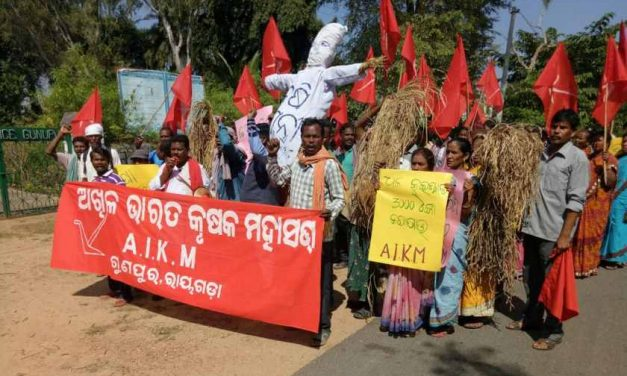 Farmers protest in Odisha demanding Loan Waiver