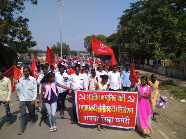 Mass Protest in Palghar district in Maharashtra