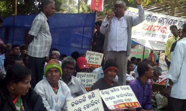 Mining Workers' Protest in Odisha