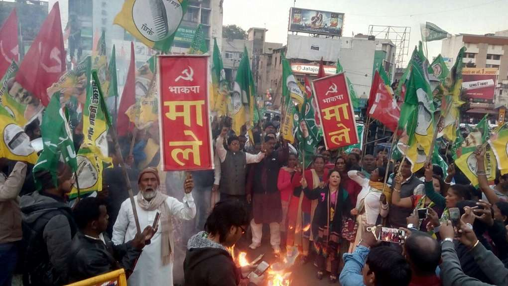 Protests in Jharkhand against the Raghuvar Government