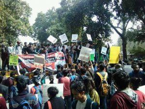 Delhi Students Protest Metro Fare Hike