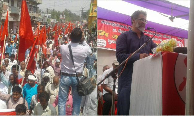 Massive Land Rights March in Champaran