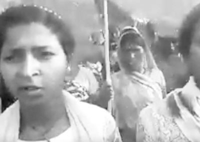 Two schoolgirls from Gaya also marched with the Padyatra saying that most girls have not received the bicycles and uniforms promised by the Government.