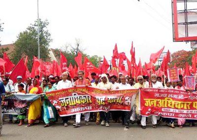Janadhikar Padyatra- March in Patna on International Workers Day, 1 May.