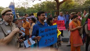 Protest Against Dalmia Takeover of The Red Fort