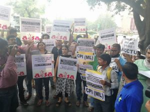 'Bring Our Workers Back' –  Protest Demands MEA Action to Safely Bring Back Abducted Workers