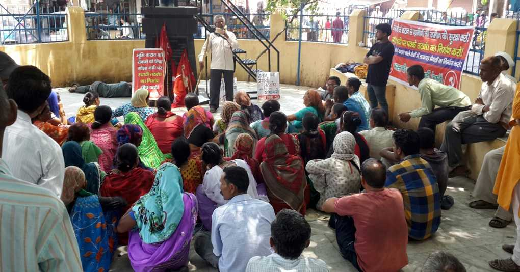 Demonstration in Haldwani Demanding Embankments to Protect From Flooding