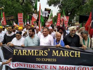 Farmers' No Confidence Motion For Modi Government On the Street