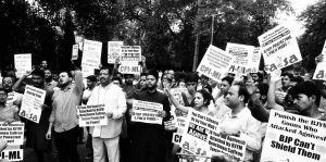 Protests Against Attack on Swami Agnivesh