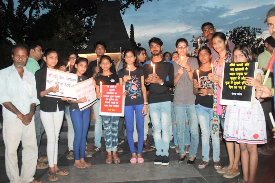 Candle March Protests in Bihar against Sexual Violence