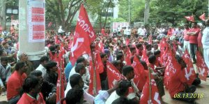 Sanitation Workers in Bengaluru for Minimum Wage and End to Contract System
