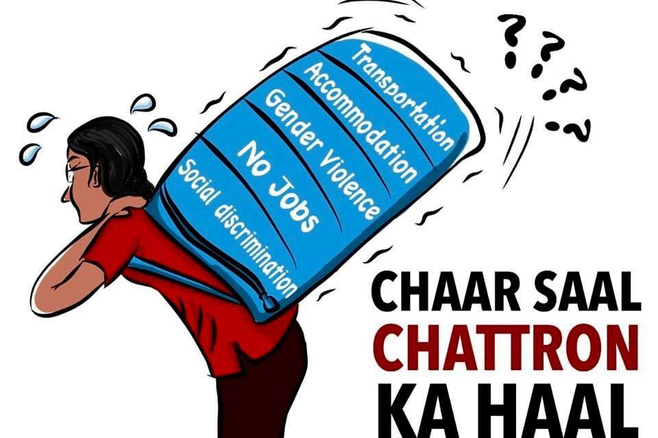 AISA Launches the Campaign 'Chaar Saal, Chattron ka Haal'